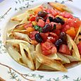 Sauteed Trenne with Tomato Sauce