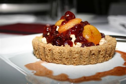 Traders Point Yogurt Tart with Fruit Compote